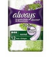 Always Discreet Normal Pads (2 Packs Of 12) – Sens…