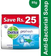 Dettol Pro Fresh Antibacterial Cool Soap (Trio Pac…